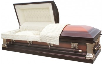 8300 - 18 Gauge Steel Casket Brushed Copper / Brown Finish