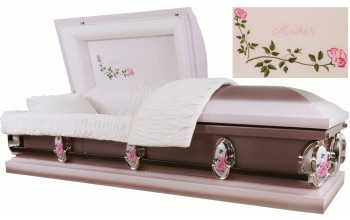 2212 - Mother Casket 18ga Light Pink and Dark Pink