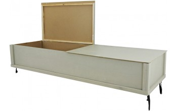 4703 - Cremation Casket, Gray Cardboard w/ Wood Frame Pillow, No Lining, Poplar Veneer