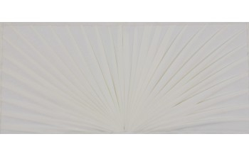 607-A - Folded Pattern head panel White Velvet with Folded Pattern
