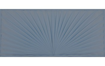 607-B - Folded Pattern head panel Blue Velvet with Folded Pattern