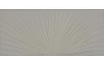 607-D - Folded Pattern head panel Almond Velvet with Folded Pattern