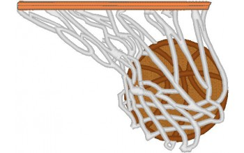 665-White - Basketball head panel