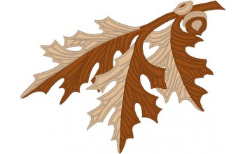 680h-White - Oak Leaves head panel