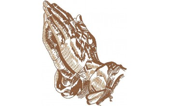 691-White - Praying Hands head panel 1