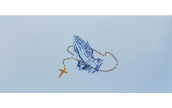692-B-h-Blue - Praying Hands head panel 2