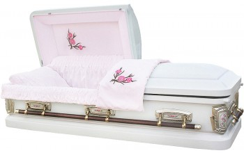 8007 - Carnation Casket 18ga Light Pink Velvet