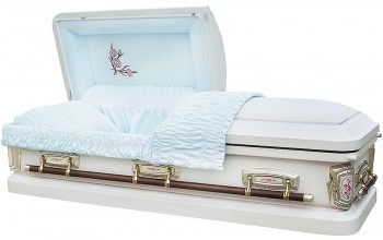 8036 - Carnation Casket 18ga Light Blue Velvet