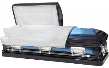 8044- 18 Gauge Steel Casket Dark Blue and Light Blue Finish