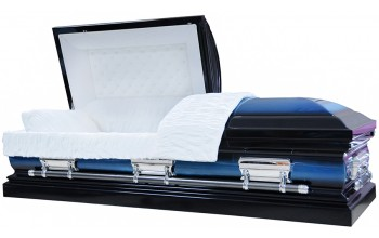 8045 - 18 Gauge Steel Casket Dark Blue and Light Blue Finish