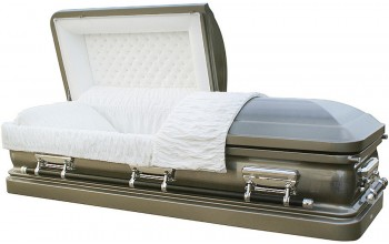 8149 - 18 Gauge Steel Casket Silver with Natural Brushed Steel