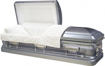 8150 - 18 Gauge Steel Casket Brushed Natural Platinum Finish