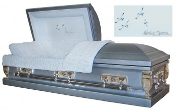 8198 - Going Home Casket 18ga Monarch Blue - Lt Blue Velvet