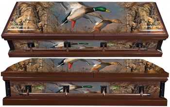 8317 - Duck Wrapped Casket - 18 GaugeDuck Embroidery - Hunter's Casket Beige Interior