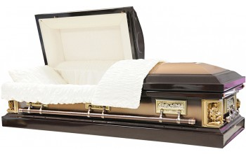 8336 - La Pieta Casket , Last Supper Casket, 18ga Brown w/ Copper Brush