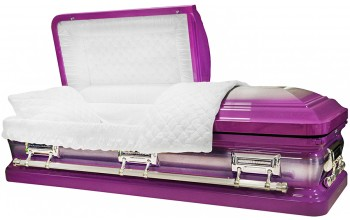 8402 -Magenta (Light Purple) Casket, 18ga Natural Brush, White Velvet