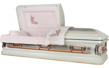 8952 - Stainless Steel Casket Carnation Casket, Natural Brushed Top